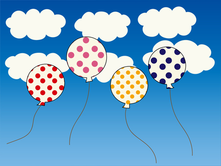 Various material sets of clouds and balloons