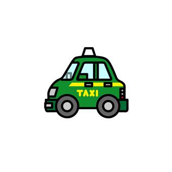 Car illustration (working car: taxi)