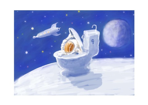 Spacecraft toilet