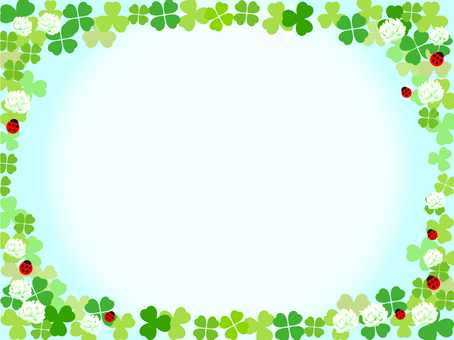 Clover and empty frame