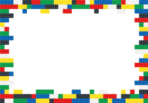 Colorful block frame