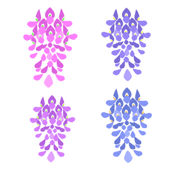 Rattan flower watercolor style icon