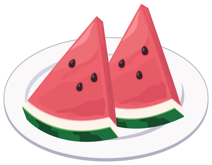 Cut watermelon _ plate