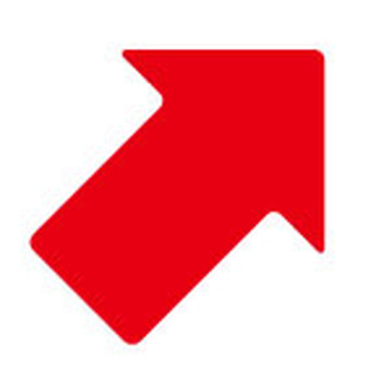Red arrow - upper right