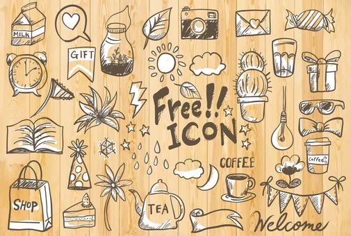 Handwritten free art icon