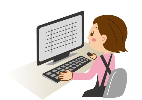 A woman ordering with a personal computer