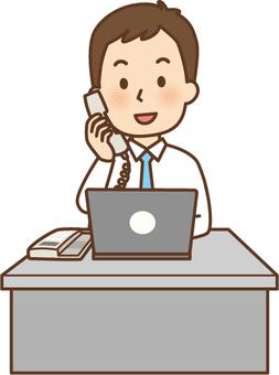 Salary man in desk work