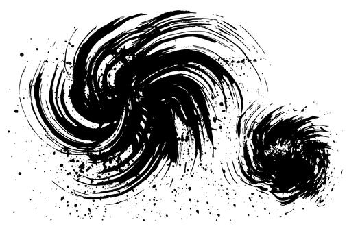 Sumizaki Writing Handwritten Brush Illustration