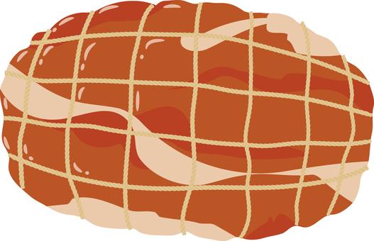 Food series meat ham chunk