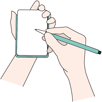 Hands to take notes