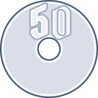Coin 50 yen coin