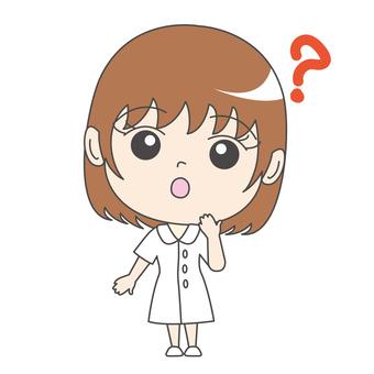 Nurse A: Front: Hatena: Question