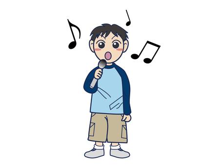 노래방하는 소년