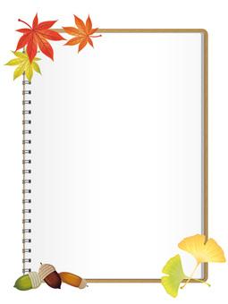 Sketchbook of autumn leaves · Vertical