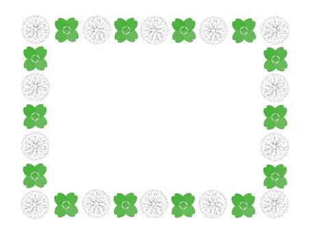 White clover meat four-leaf frame