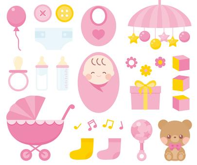 아기 ~ 분홍색 세트 ~
