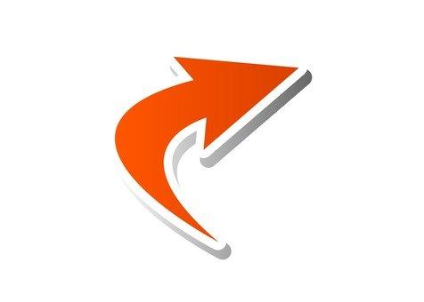 Right up arrow (Orange)