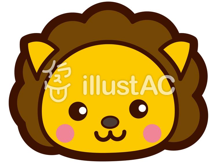 可愛いライオンの顔イラスト No 248717無料イラストならイラストac
