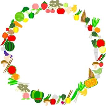 Vegetable and fruit frame