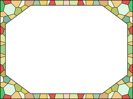 馬賽克般的彩色玻璃擋風玻璃