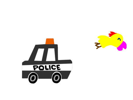 Birds and police cars