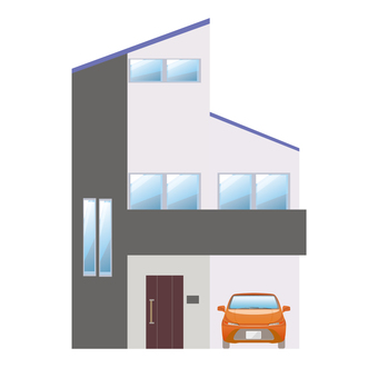 Detached house and car