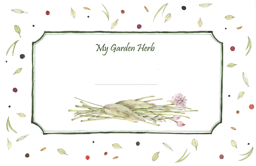 Garden herb label 2