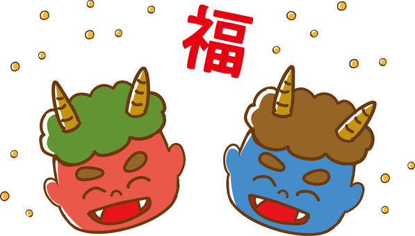 Setsubun Red Demon Blue Demon