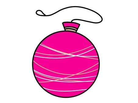 여름 축제의 분홍색 물 풍선의 일러스트 01