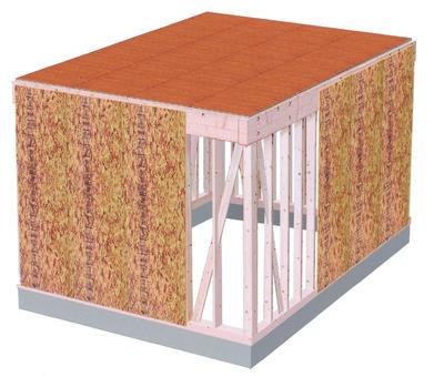 房間的木結構 - 天花板和牆壁膠合板規格