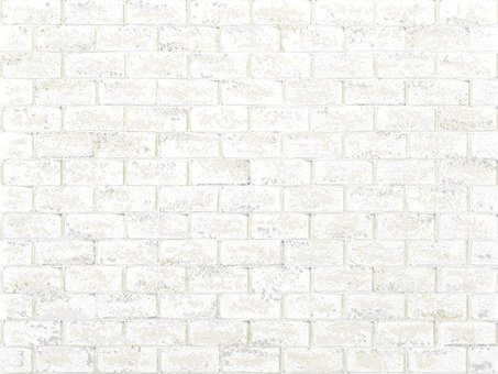 Retro decorated white brick texture