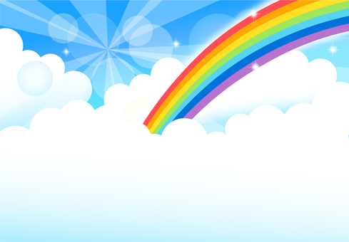 Sky rainbow background
