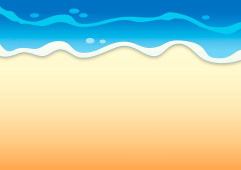 【夏】ビーチ 砂浜 海 背景