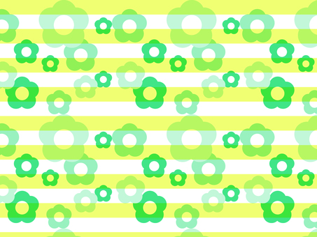 Background Border × Flower Green