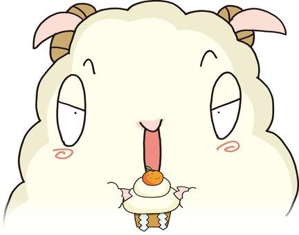 Mochi and sheep illustration
