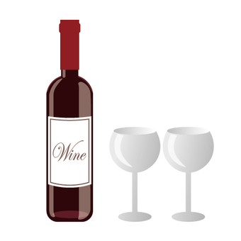 Image of wine bottle / wine glass