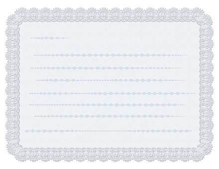 레이스 테두리 메모 - 흰색