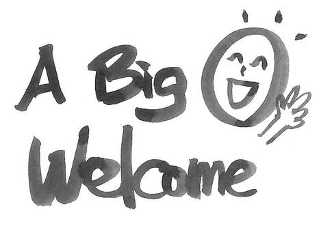 a big welcome 大歓迎!