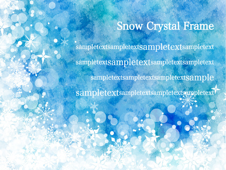 Snow crystal frame ver 08
