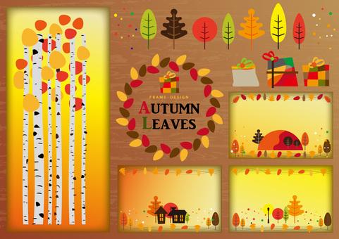 Frame design: Autumn leaf 2