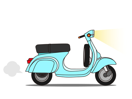 Scooter (moped) Blue