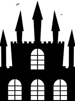 Suspicious castle silhouette
