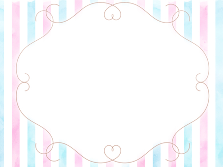 Watercolor tricolor frame