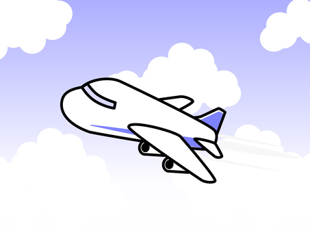 Simple airplane (with background)