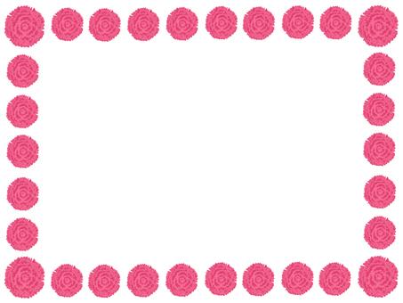 Pink carnation frame