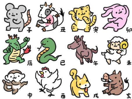 Zodiac set of cool poses