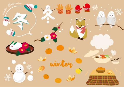 冬 イメージ かわいい 挿絵