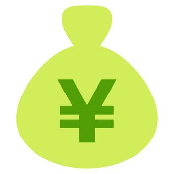 Circular bag (green