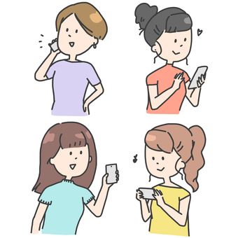 Smart phone, women, woman
