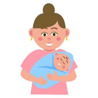여성과 아기
